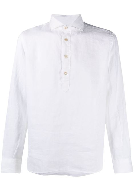 White linen shirt featuring henley neck ELEVENTY |  | C75CAMC08-TES0A00101