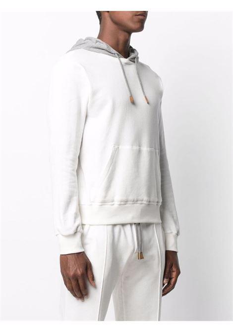 Felpa in cotone a maniche lunghe in cotone bianco e grigio ELEVENTY | Felpe | C75FELC01-TES0C17101