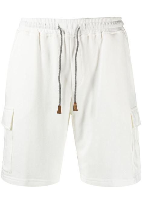 Beige cotton drawstring-waist shorts   ELEVENTY |  | C75FELC05-TES0C17101