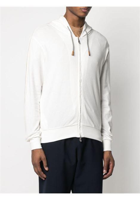 White and beige cotton stripe-print zip-up hoodie  ELEVENTY |  | C75FELC06-TES0C17701