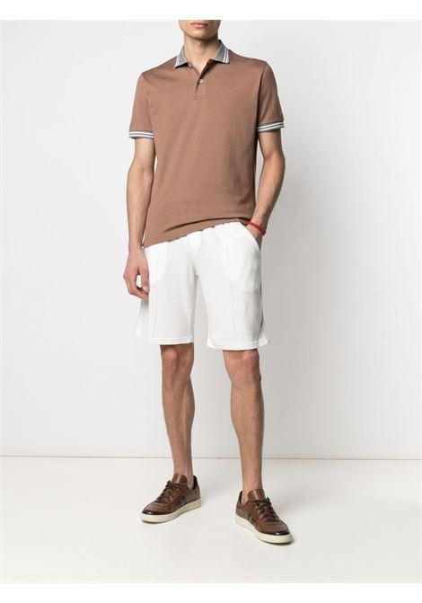 White, beige and red cotton striped cotton deck shorts  ELEVENTY |  | C75FELC07-TES0C17701