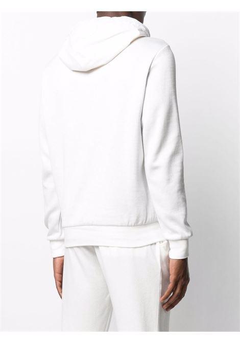 Felpa in cotone bianco con mezza zip e cappuccio ELEVENTY | Felpe | C75FELC12-TES0C17901-01