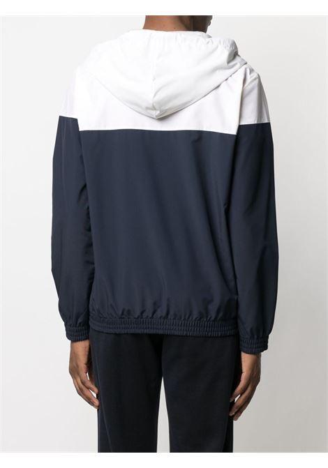 Navy blue and white wool colour-block bomber jacket  ELEVENTY |  | C75FELC14-TES0C18111-01