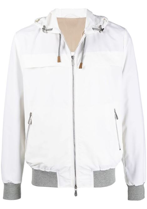 White lightweight zipped jacket featuring drawstring hood ELEVENTY |  | C75GBTC01-GBT2700701