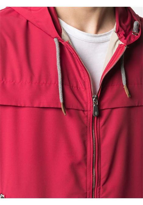 Giacca rossa con cappuccio e zip ELEVENTY | Giubbini | C75GBTC01-GBT270075000