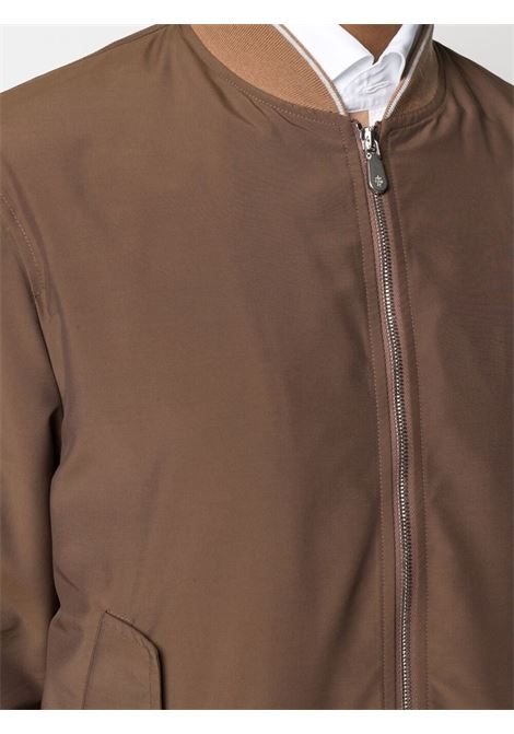 Camel-brown and chocolat wool blend two-tone zip-up bomber jacket  ELEVENTY |  | C75GBTC02-GBT2700704