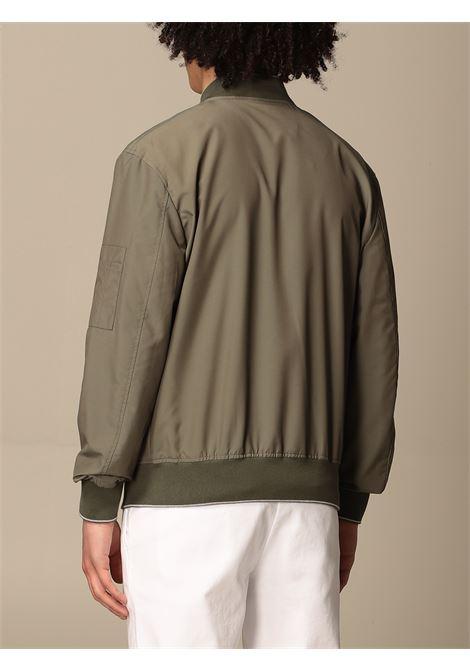military-green wool blend two-tone zip-up bomber  ELEVENTY |  | C75GBTC02-GBT2700707