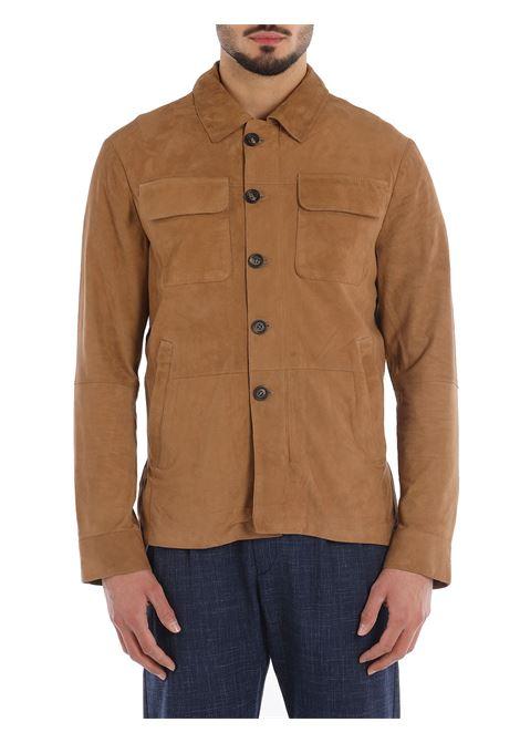 Brown goatskin and suede classic shirt jacket  ELEVENTY |  | C75GBTC22-PEL0C00803