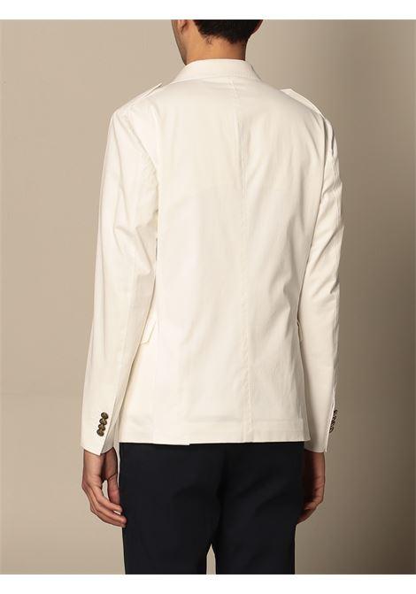 Ivory-white stretch-cotton peak-lapels single-breasted blazer ELEVENTY |  | C75GIAC17-TES0C15301