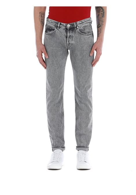 Grey cotton distressed straight-leg jeans  ELEVENTY |  | C75PANC06-TET0C01506