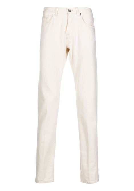 Off-white cotton straight-leg jeans  ELEVENTY |  | C75PANC06-TET0C01700