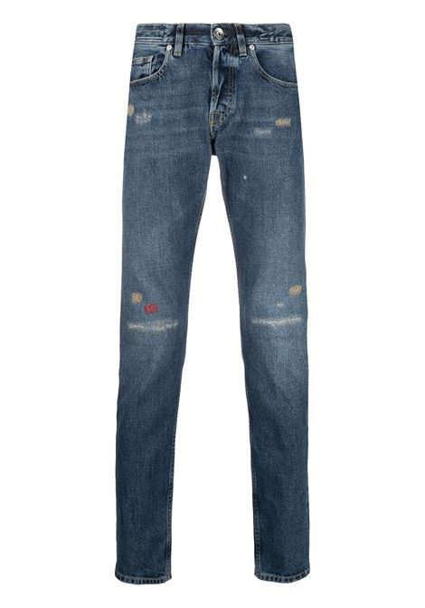 Blue cotton distressed effect skinny jeans ELEVENTY |  | C75PANC07-TET0C02511