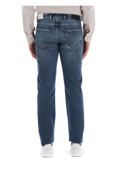 Jeans skinny blu in cotone effetto consumato ELEVENTY | Pantaloni | C75PANC07-TET0C02511