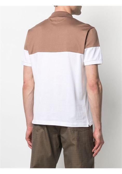 Polo color block in cotone cammello e bianco ELEVENTY | Polo | C75POLC03-TES0C17504-01