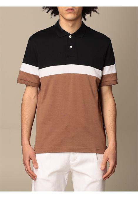 multicolored cotton colour-block polo shirt ELEVENTY |  | C75POLC04-TES0C176130118