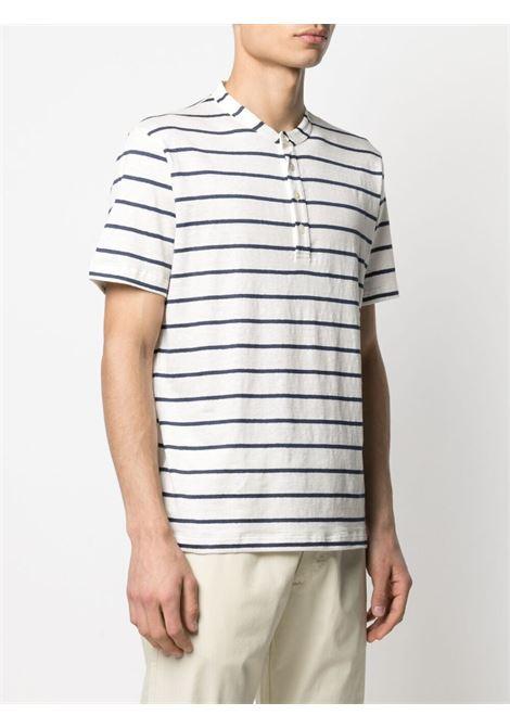 T-shirt a righe in lino elasticizzato bianco e blu ELEVENTY | T-shirt | C75TSHC01-TES0C11401-11