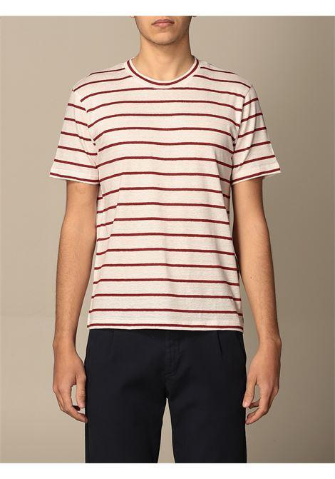 T-shirt in lino a righe bianche e rosse ELEVENTY | T-shirt | C75TSHC02-TES0C11401-18