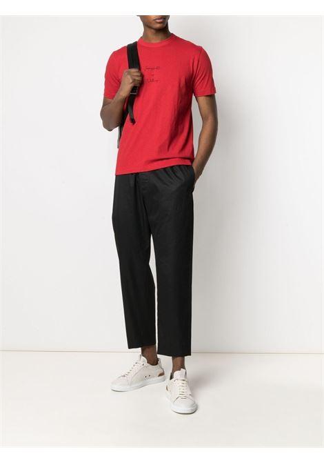 T-shirt rossa e nera in cotone con scritta stampata sul davanti ELEVENTY | T-shirt | C75TSHC06-TES0C16918