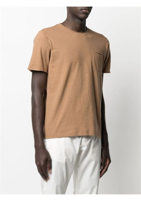 Camel cotton chest pocket  T-shirt  ELEVENTY |  | C75TSHC07-TES0C16904
