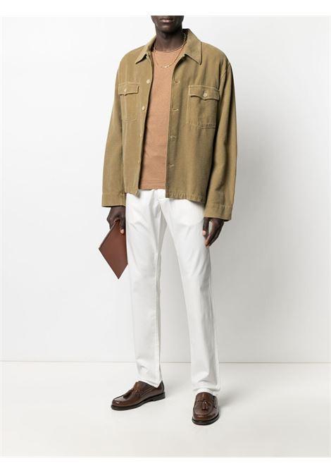 T-shirt con taschino sul petto in cotone cammello ELEVENTY | T-shirt | C75TSHC07-TES0C16904