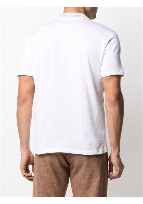 Polo bianca in cotone senza bottoni a maniche corte ELEVENTY | T-shirt | C75TSHC12-TES0C17301N