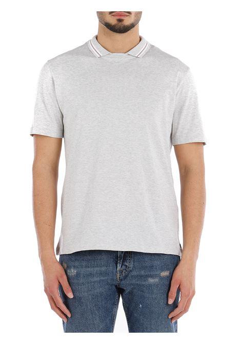 T-shirt in cotone grigio con colletto a contrasto ELEVENTY | T-shirt | C75TSHC12-TES0C17313