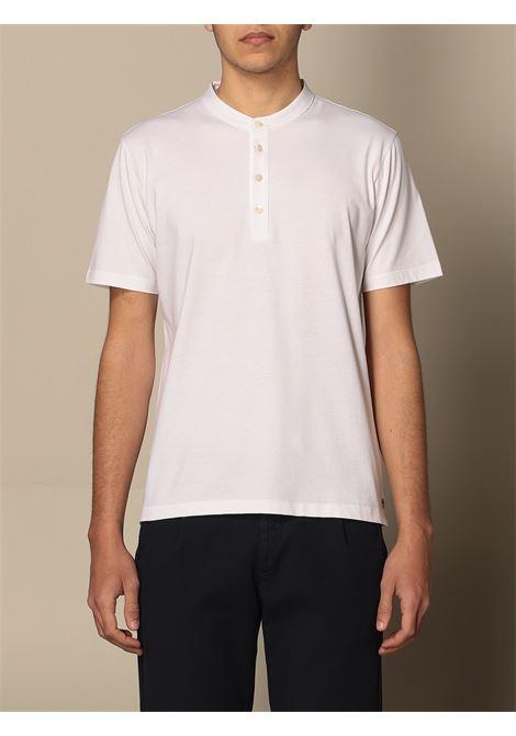 T-shirt bianca in cotone con colletto a fascia ELEVENTY | T-shirt | C75TSHC15-TES0C10801