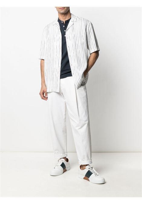 Navy-blue cotton band-collar cotton T-shirt  ELEVENTY |  | C75TSHC15-TES0C10811