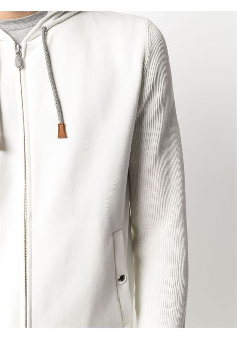 White cotton knitted zip-up hoodie  ELEVENTY |  | C76GIAC04-TES0C16501