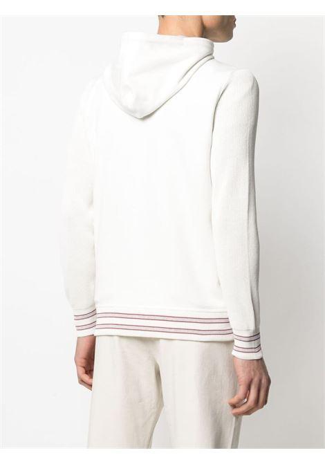 Felpa con cappuccio in maglia di cotone bianco con zip ELEVENTY | Giubbini | C76GIAC04-TES0C16501