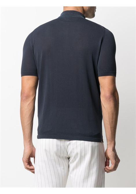 Polo blu in cotone a maniche corte con colletto button down ELEVENTY | Maglieria | C76MAGC14-MAT0A00111N