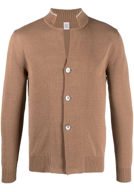 Cardigan in cotone color cammello con colletto alla coreana ELEVENTY | Cardigan | C76MAGC30-MAG0A00104