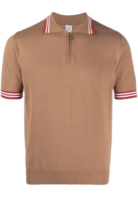 Polo in cotone con finiture a righe rosse a contrasto ELEVENTY | Maglieria | C76MAGC31-MAG0C01504