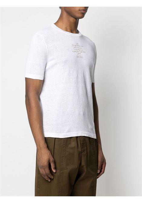 T-shirt bianca con scritta stampata sul davanti ELEVENTY | T-shirt | C76MAGC60-MAG0C05701