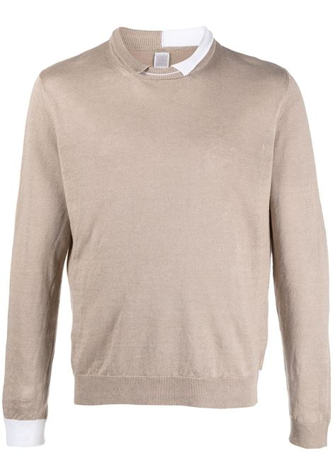 Beige hemp polo collar jumper featuring ribbed-knit edge ELEVENTY |  | C76MAGC61-MAG0C05802