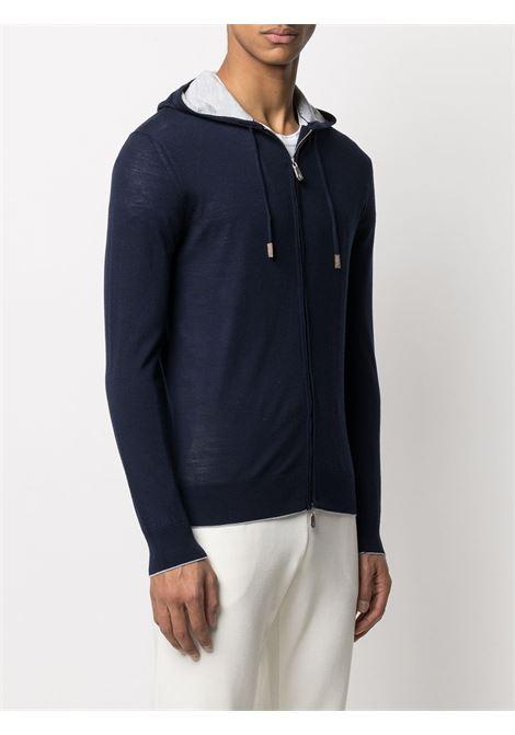 Navy blue wool zipped hoodie ELEVENTY |  | C76MAGC72-MAG2400311