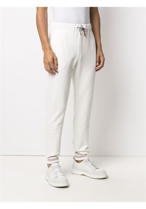 White stretch cotton slim leg track pants  ELEVENTY |  | C76PANC01-TES0C16601