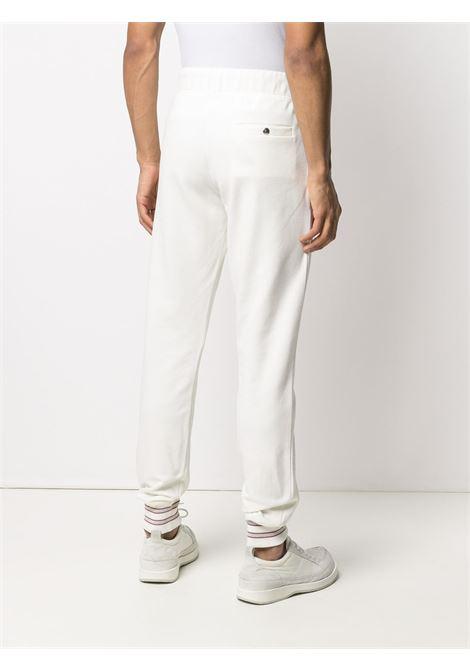 White stretch cotton slim leg track pants  ELEVENTY |  | C76PANC01-TES0C16601