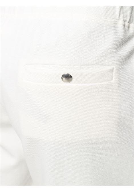 Pantaloni sportivi slim in cotone elasticizzato bianco ELEVENTY | Pantaloni | C76PANC01-TES0C16601