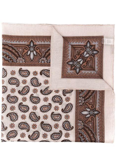 Sand paisley-print cotton scarf ELEVENTY      C77ACCC01-TES0C10602