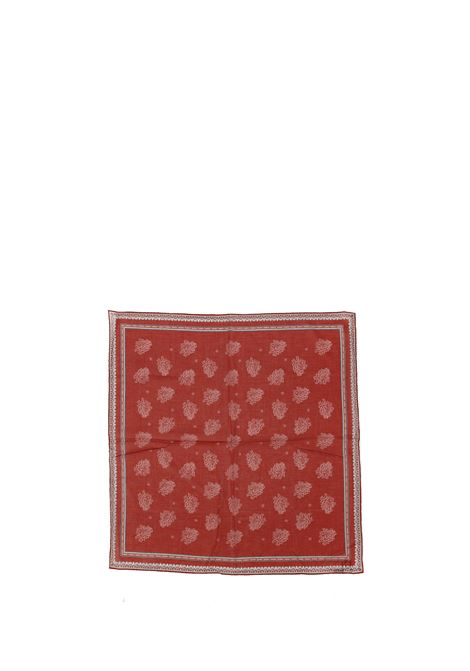 Red cotton paisley-print cotton scarf ELEVENTY |  | C77ACCC01-TES0C10718