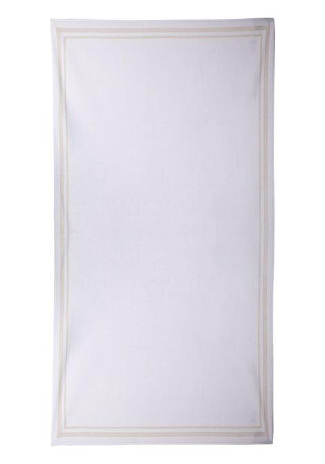 Telo mare bianco brillante con dettagli a righe beige ELEVENTY | Teli Mare | C77ACCC02-TES0C15901