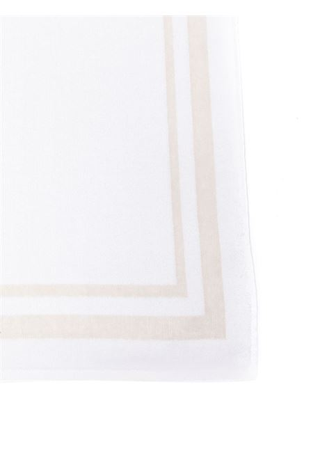Bright white cotton beach towel with beige striped details ELEVENTY |  | C77ACCC02-TES0C15901