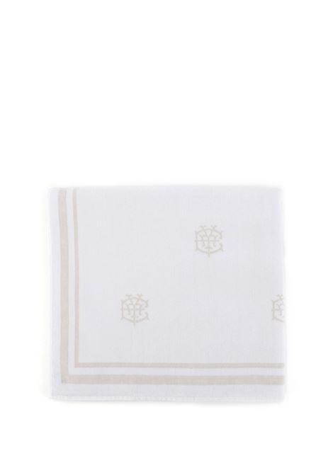 Telo mare in cotone bianco brillante e beige chiaro ELEVENTY | Teli Mare | C77ACCC03-TES0C15901