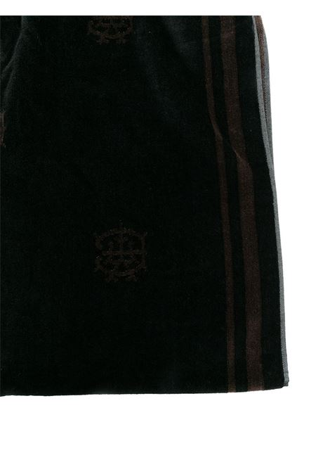 Telo mare in cotone nero con logo Eleventy all over ELEVENTY | Teli Mare | C77ACCC03-TES0C15922