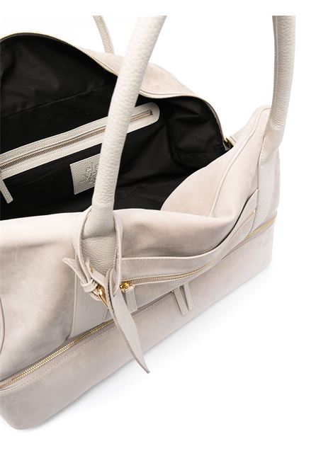 Sand beige nubuck leather and deer skin holdall  ELEVENTY |  | C77BORC01-PEL0C01702