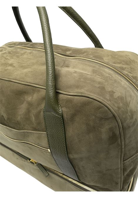 Sage green zipped leather holdall  ELEVENTY |  | C77BORC01-PEL0C01707