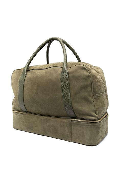 Borsone in pelle scamosciata con zip verde salvia ELEVENTY | Borse da viaggio | C77BORC01-PEL0C01707