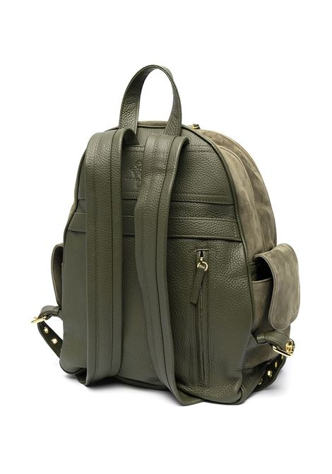 Sage green deer skin multi-pocket backpack  ELEVENTY |  | C77BORC04-PEL0C01707