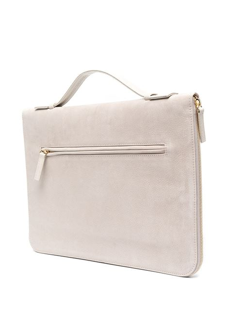 Borsa per laptop con zip in pelle di cervo color sabbia ELEVENTY | Porta Documenti | C77BORC06-PEL0C01702